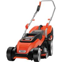 Black & Decker EMAX34i Compact & Go Rotary Lawnmower 340mm 240v