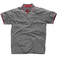 Dickies Mens Anvil Polo Shirt Grey XL