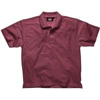 Dickies Mens Short Sleeve Polo Shirt Burgundy XL