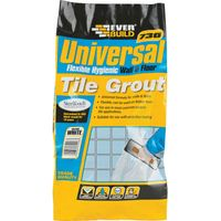 Everbuild Universal Flexible Tile Grout Grey 5kg