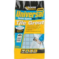 Everbuild Universal Flexible Tile Grout White 5kg