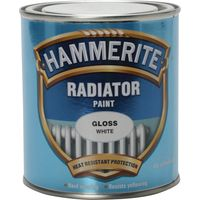 Hammerite Radiator Enamel Paint Gloss White 500ml