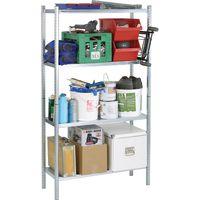Raaco 4 Shelf Galvanised Steel Shelving Unit
