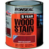 Ronseal 5 Year Woodstain Deep Mahogany 250ml
