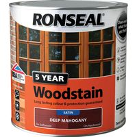 Ronseal 5 Year Woodstain Black Ebony 250ml
