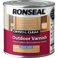 Ronseal Crystal Clear Outdoor Varnish Satin 250ml