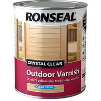 Ronseal Crystal Clear Outdoor Varnish Satin 750ml