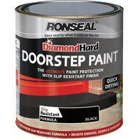 Ronseal Diamond Hard Door Step Paint Black 250ml