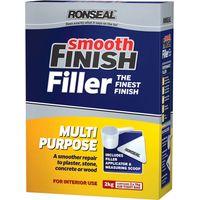 Ronseal Smooth Finish Multi Purpose Interior Wall Powder Filler 2kg