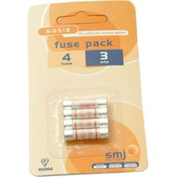 Smj 3 Amp Fuses Pack of 4