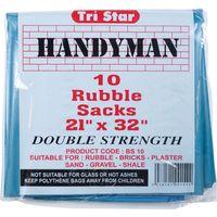 Tristar Heavy Duty Blue Rubble Sack Pack of 10