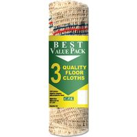 Tristar Cotton Reinforced Floor Cloth Pack of 3