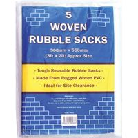 Tristar Woven White Rubble Sack Pack of 5