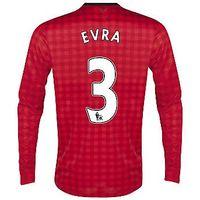 2012-13 Man Utd Nike Long Sleeve Home (Evra 3) - Kids