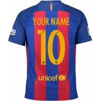2016-17 Barcelona Home Shirt (Your Name)