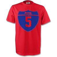 Carlos Puyol Barcelona Crest Tee (red)