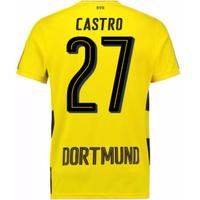 2017-18 Borussia Dortmund Home Short Sleeve Shirt (Castro 27)