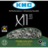 KMC X11-93 11 Speed Chain with 118 Links Chains