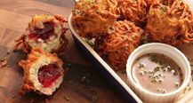 Latke-Crusted Turkey Stuffing Fritters