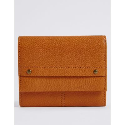 Leather Grainy Purse with Cardsafe™ ochre