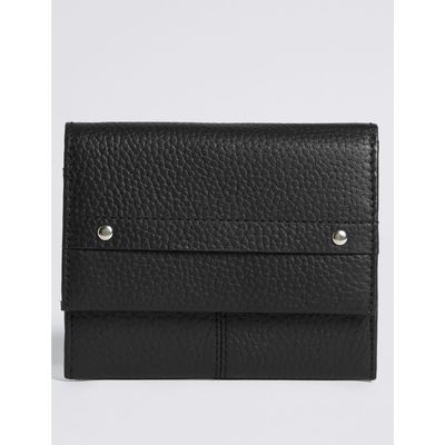 Leather Grainy Purse with Cardsafe™ black
