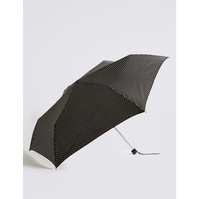 Spotted Compact Umbrella with Stormwear™ black mix