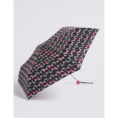 Animal Print Compact Umbrella with Stormwear™ black mix