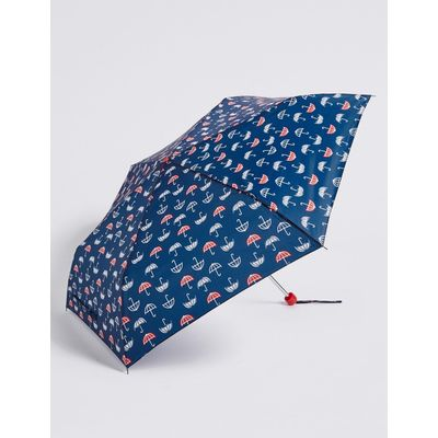 Printed Umbrella with Stormwear™ navy mix
