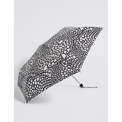 Heart Print Umbrella with Stormwear™  black mix