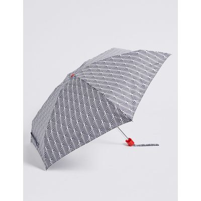 Printed Compact Umbrella with Stormwear™ navy mix