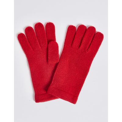 Soft Knitted Gloves red