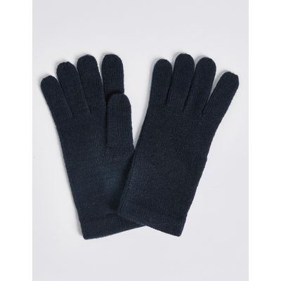 Soft Knitted Gloves navy