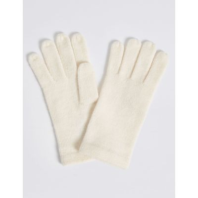 Soft Knitted Gloves cream