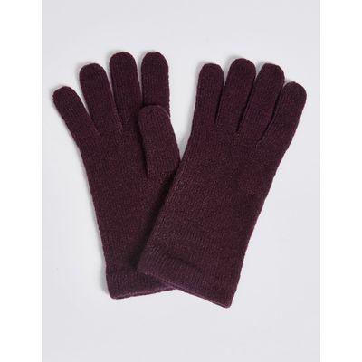 Soft Knitted Gloves dark grape