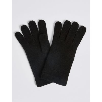 Soft Knitted Gloves black
