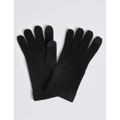 Knitted Touchscreen Gloves black
