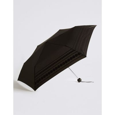 Circle Striped Umbrella with Stormwear™ black mix