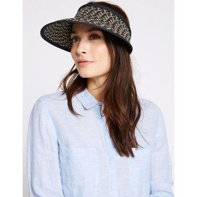 Textured Visor Hat navy mix