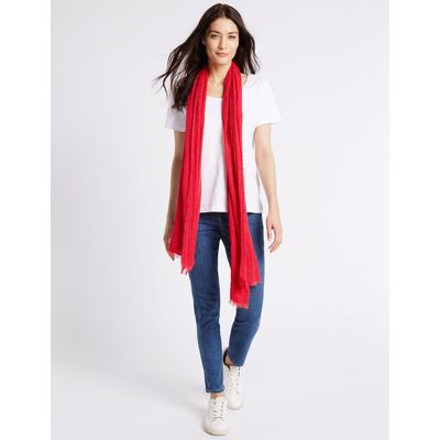 Crinkle Scarf red