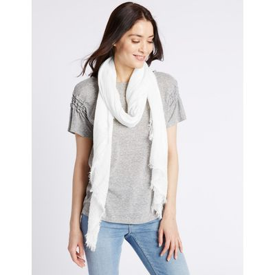 Crinkle Scarf white
