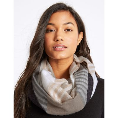 Striped Scarf natural mix