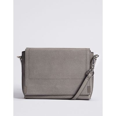 3 Part Compartment Across Body Bag grey