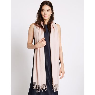 Modal Blend Scarf with Wool blush