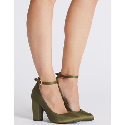 Ankle Strap Court Shoes green