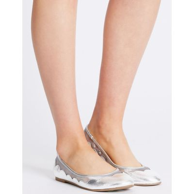 Slip-on Mesh Pump Shoes silver