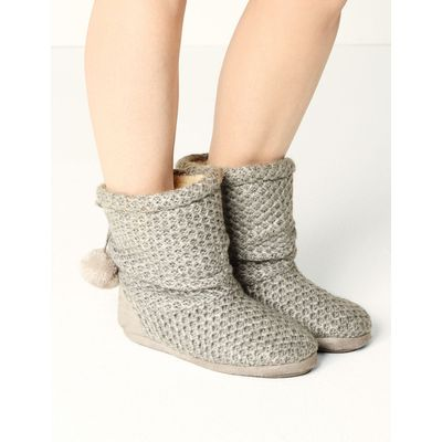 Snuggle Slipper Boots grey