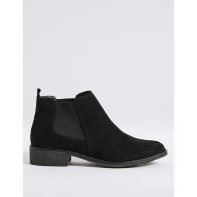 Block Heel Chelsea Ankle Boots black