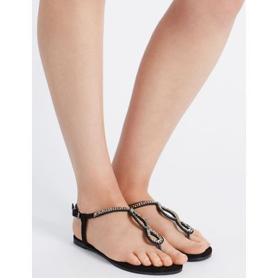 Twisted Sandals with Insolia Flex® black