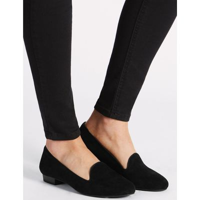 Suede Albert Pump Shoes black