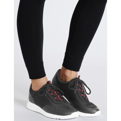 Lace-up Active Trainers black mix